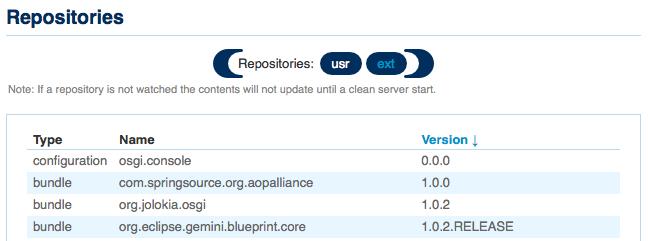 WebAdminRepositories